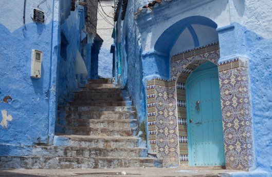 Chefchaouen, known for its blue-painted walls - Ben Sklar for The New York Times