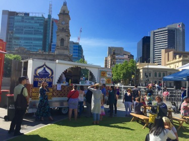 Sunday in the centre of the city - what Adelaide is all about.